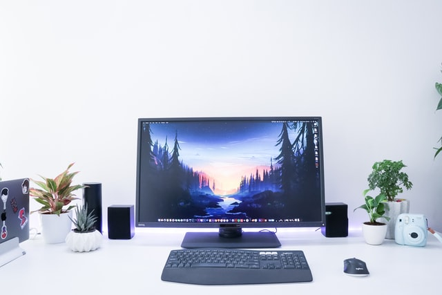 work from home computer set up