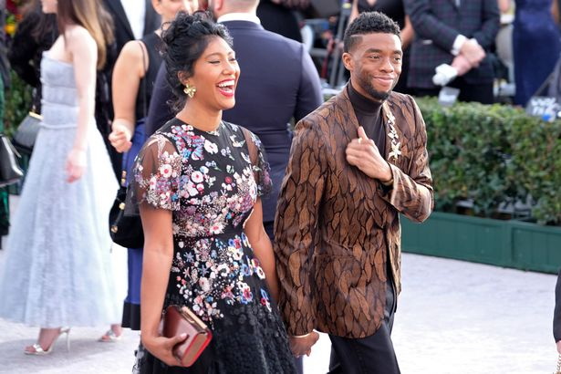 Chadwick and Simone at an event