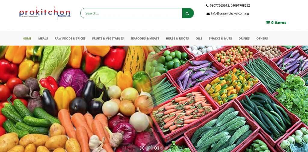 grocery shop online and pick up from organic haive