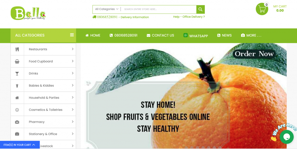 grocery shop online and pick up from belle