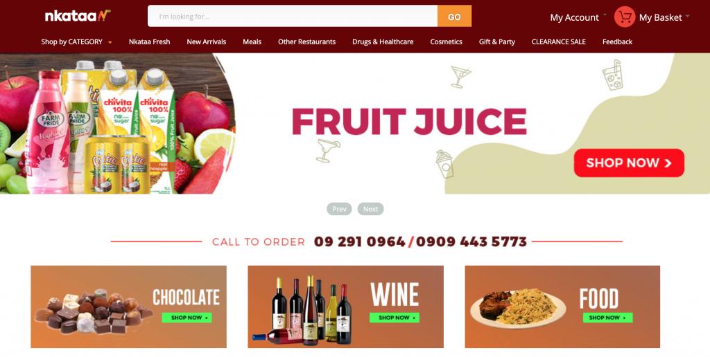 nkataa online grocery shop