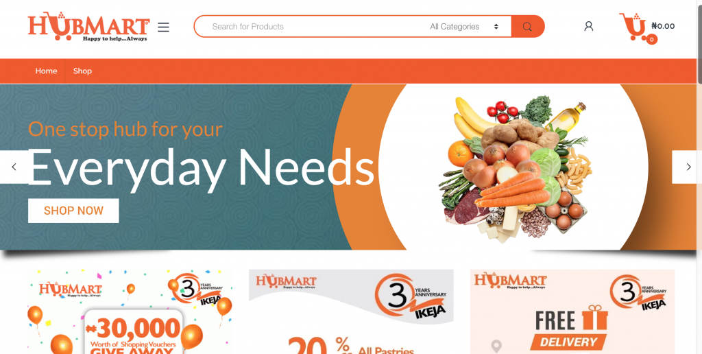 grocery shop online from hub mart