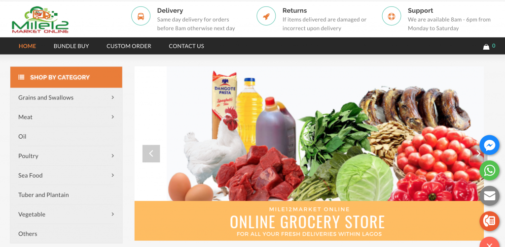 grocery shop online and pick up from mile12 online