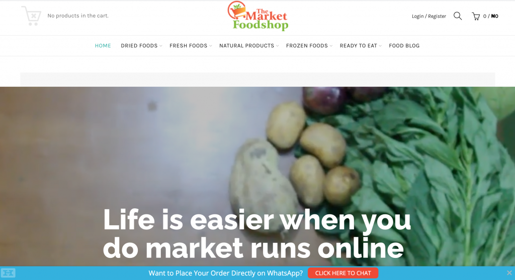 grocery shop online and pick up in Nigeria