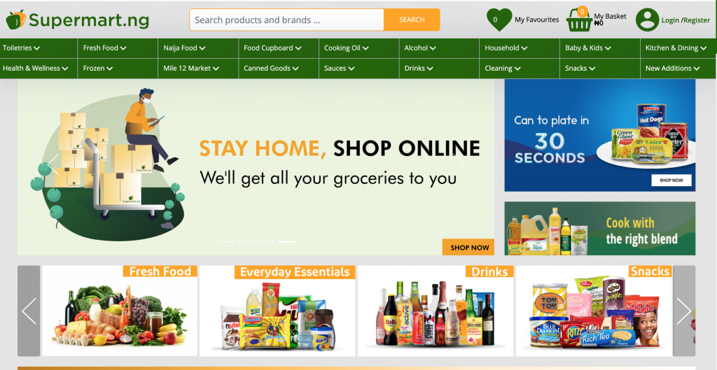 grocery shop online and pick up online in Nigeria