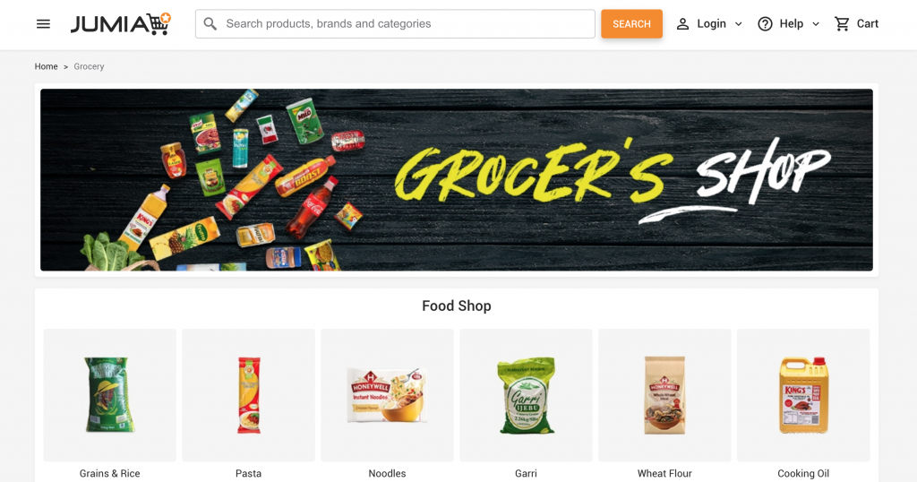 biggest grocery shop online and pick up in Nigeria