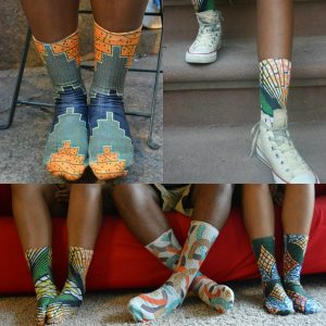 African fashion and design socks