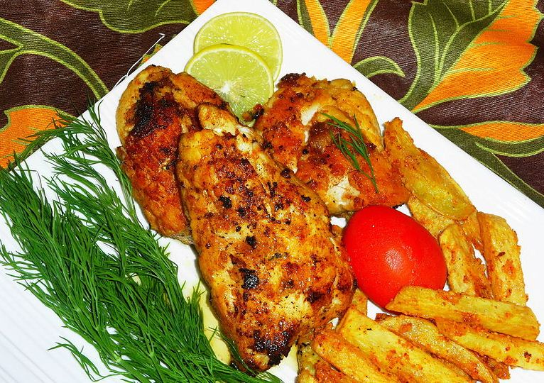 Fried fish with chips