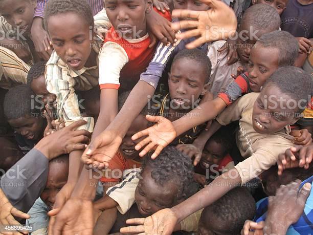 Picture of destitute African children