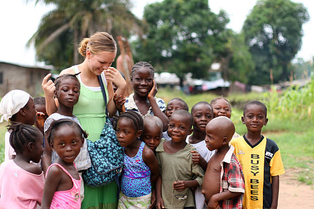 White missionary touching black lives