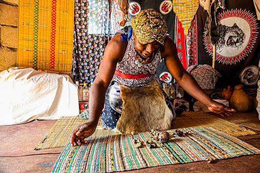 picture of an African witch doctor